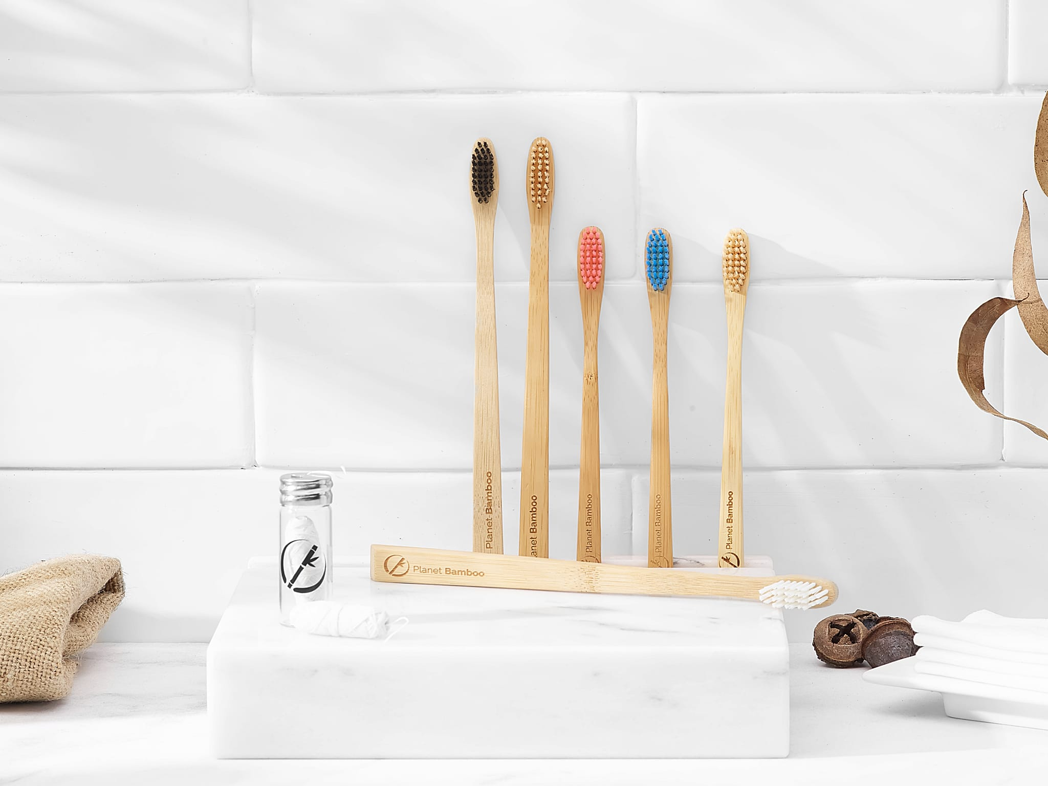 Product photography for Planet Bamboo of bambu toothbrushes
